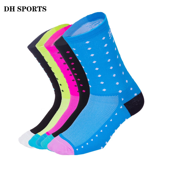 DH SPORTS Professional Cycling Socks Men Women Outdoor Sport  Running Racing Compression Socks Bicycle Mountain Road Bike Socks - KOM Cycles