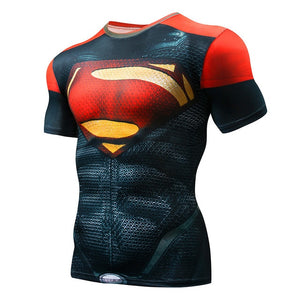 Marvel Superhero Compression shirt Men Women Cycling Base Layers Bicycle Short Sleeve Shirt Highly Breathbale Underwear Jersey - KOM Cycles