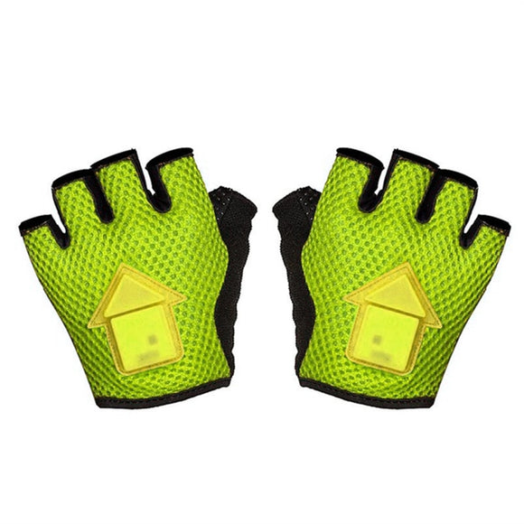 Good deal-Autoinduction Steering Gloves LED Turn Signal Bike Lights in a Cycling Gloves-L - KOM Cycles