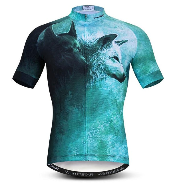 Cycling Jersey Short Sleeve Ropa Ciclismo Men Summer Bike Clothing Bicycle Shirt Maillot MTB Clothes Jacket 3D Lion Tiger Wolf - KOM Cycles