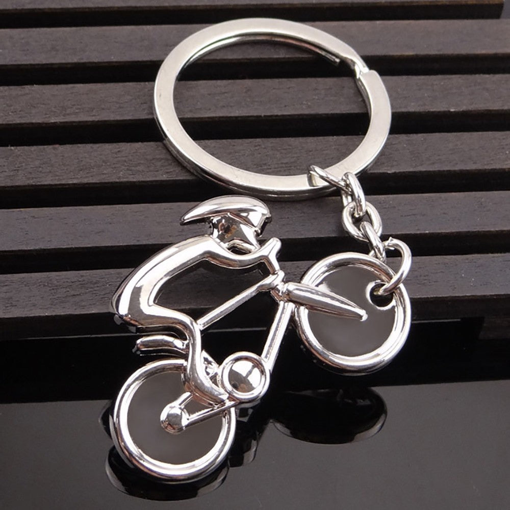 Pedal Bicycle Metal Key Chain Pendant Bicycle Hobby Souvenir - KOM Cycles