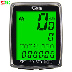 Bike Computer Multi Functions Wired / Wireless Bicycle Cycling Computer Waterproof LCD Display Cycling Bike Bicycle Computer Odometer Speedometer with Green Backlight - KOM Cycles