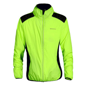 WOSAWE Cycling Jersey Riding Breathable Jacket Cycle Clothing Bike Long Sleeve Wind Coat - KOM Cycles