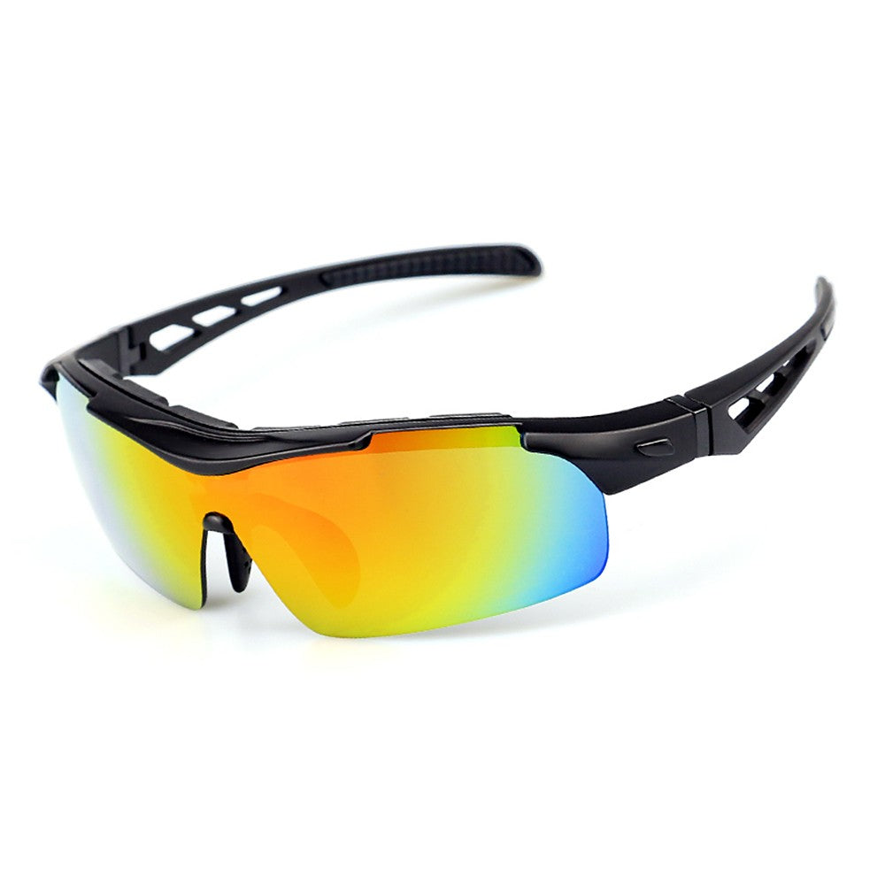Polarized Cycling Sunglasses Bike Bicycle UV400 Goggles Sports Driving Motorcycling Fishing Skating Traveling Eyewear Glasses with 5 Interchangeable Lenses Unbreakable for Riding Driving Fishing Running - KOM Cycles