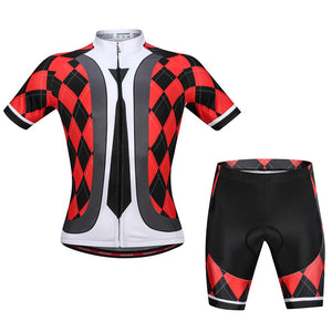 Men's Cycling Jersey Set Breathable Quick-Dry Short Sleeve Biking Shirt with Gel Padded Shorts MTB Bike Cycling Clothing Set - KOM Cycles
