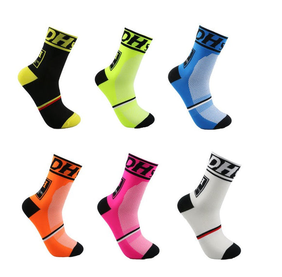 DH Sports New Cycling Socks Top Quality Professional Brand Sport Socks Breathable Bicycle Sock Outdoor Racing - KOM Cycles