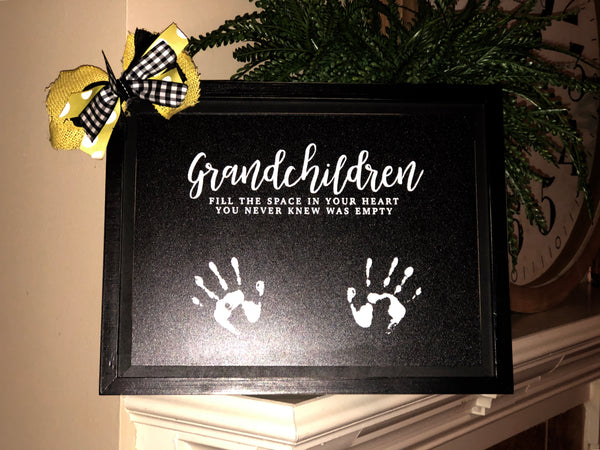 """Grandchildren"" chalkboard sign"