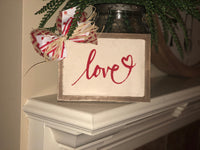 """Love"" canvas sign"