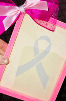 Custom cancer ribbon reverse canvas sign