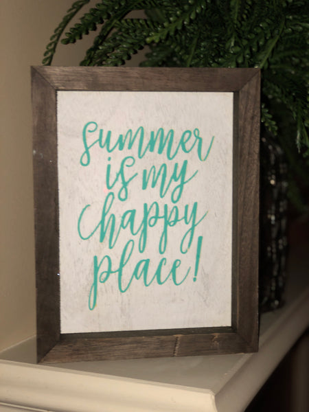 """Summer is my happy place"" wall decor"