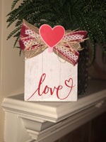 "White wooden Frame with ""Love"""