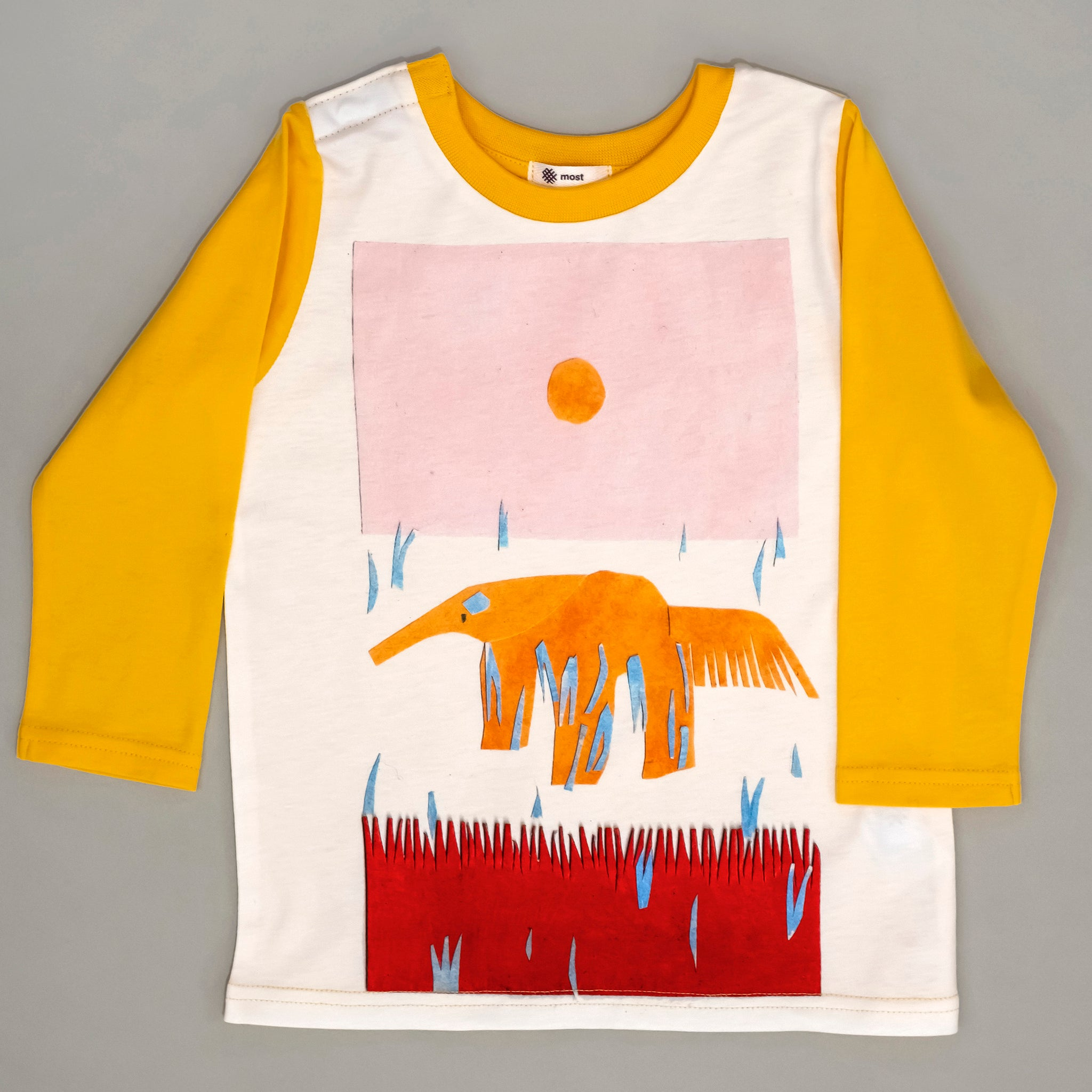 Anteater kids tee - yellow