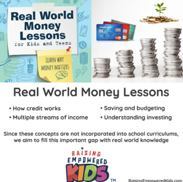 Real World Money Lessons for Kids and Teens