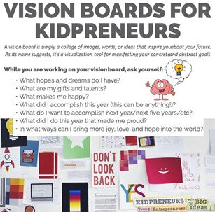 Vision Boards for Kidpreneurs