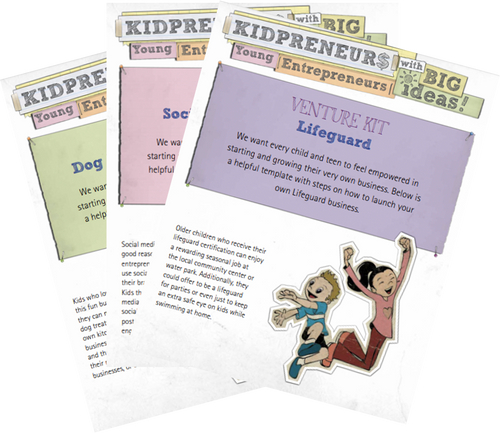 Venture Kit: Business plan for a DIY Kid-venture (PDF)