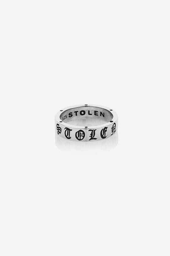 Stolen Girlfriends Club Stolen Gothic Imprint Band - Silver