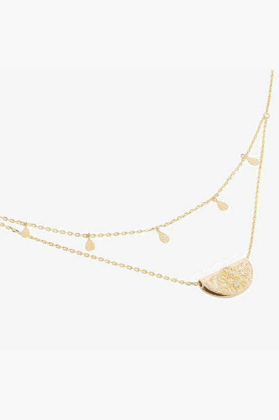 By Charlotte Blessed Lotus Necklace - Gold
