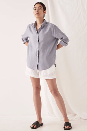 Assembly Xander LS Shirt - Steel Blue