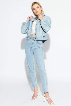 A Brand A Bonnie Denim Jacket - Fade Into You