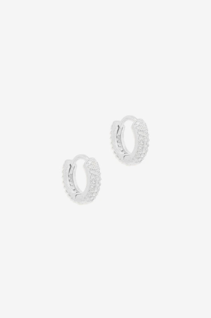 By Charlotte Light Catcher Hoops - Silver