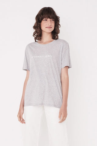 Assembly Logo Cotton Crew Tee - Grey Marle