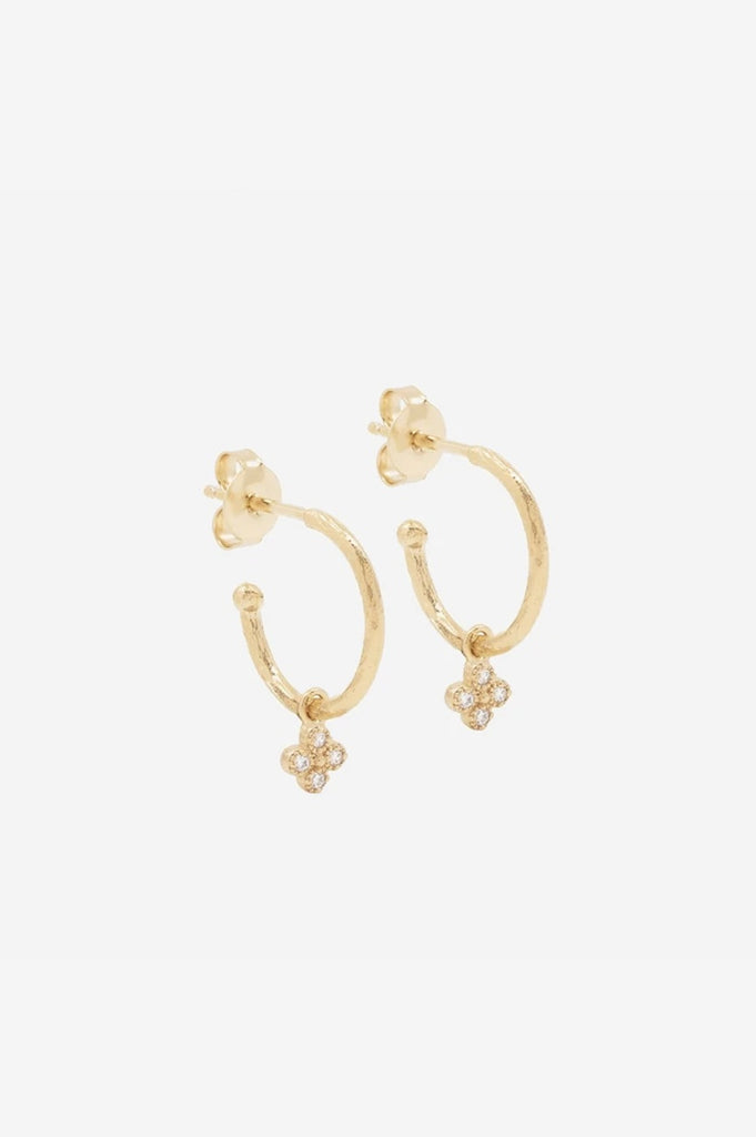 By Charlotte Luminous Hoops - Gold