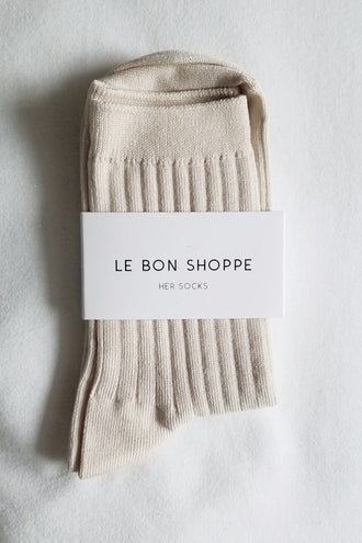 Le Bon Shoppe Her Socks Cotton - Porcelain