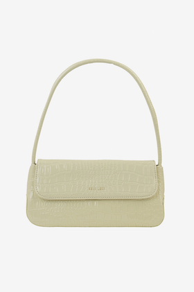 Brie Leon The Camille Bag - Bone Oily Croc