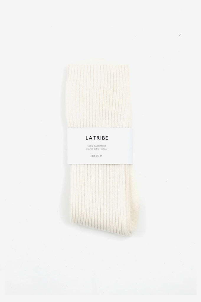 La Tribe Cashmere Bed Socks - Ivory