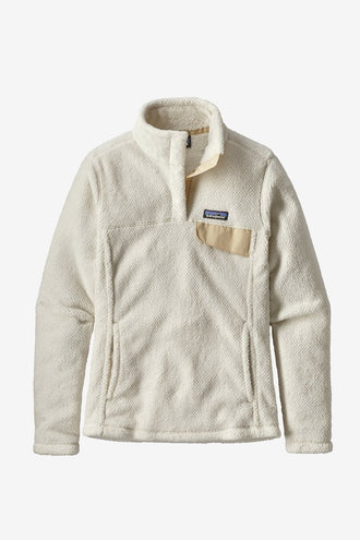 Patagonia Womens Re-Tool Snap-T Pullover - Raw Linen White X-Dye
