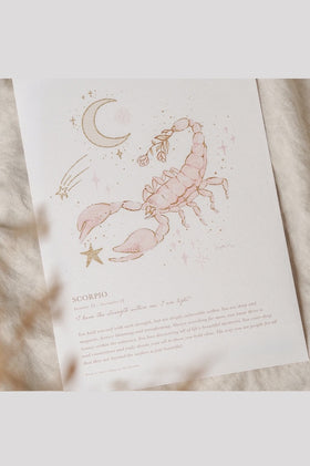 By Charlotte A4 Unframed Print - Scorpio
