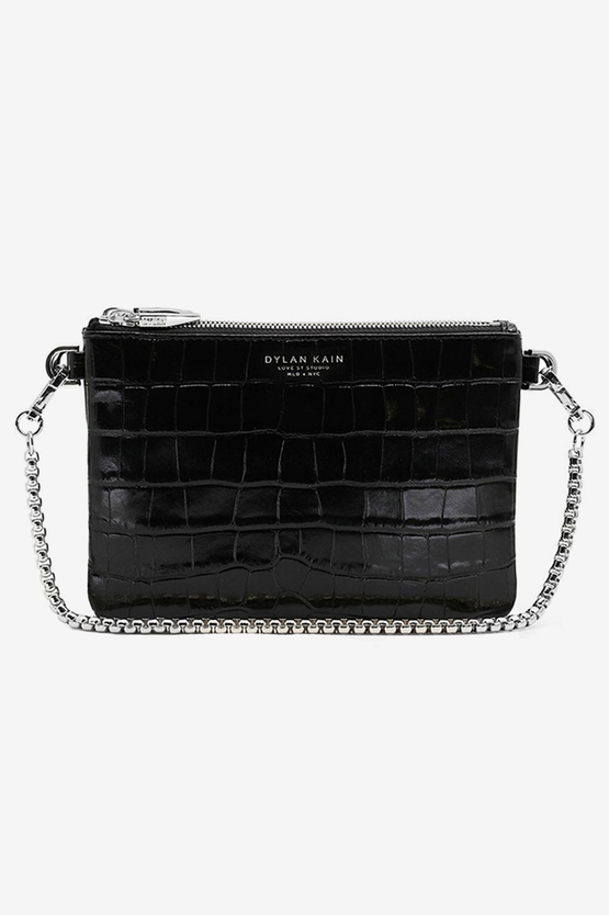 Dylan Kain The LSC Croc Bag - Silver