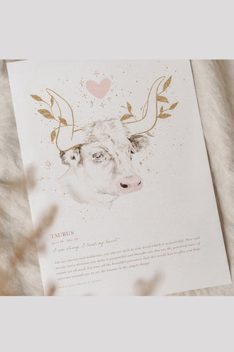By Charlotte A4 Unframed Print - Taurus