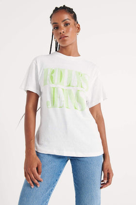 Rollas Cellophane Tomboy Tee - White