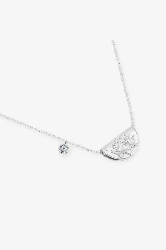 By Charlotte Lucky Lotus Necklace - Silver