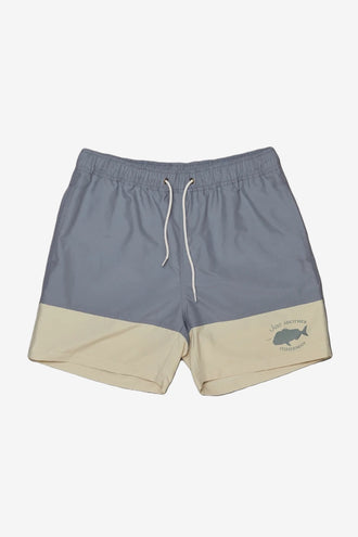 Just Another Fisherman Snapper Logo Shorts - Sage/Natural