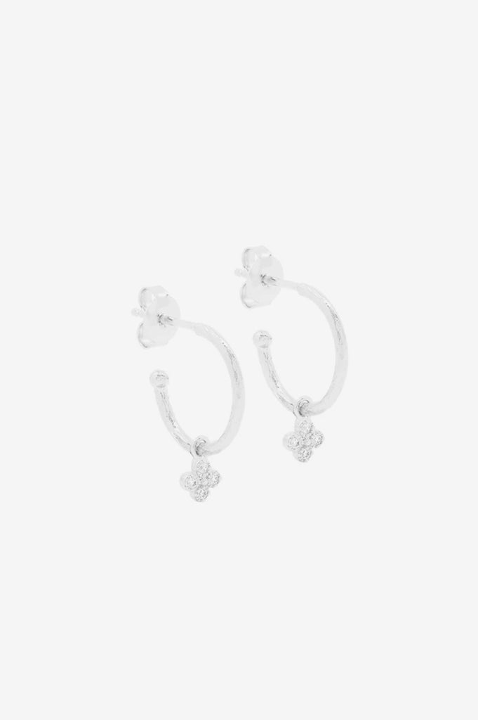 By Charlotte Luminous Hoops - Silver