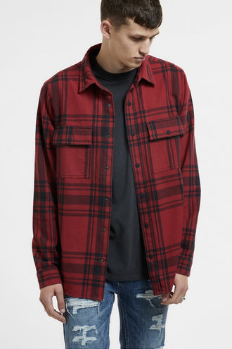 Ksubi Paradox LS Shirt - Red