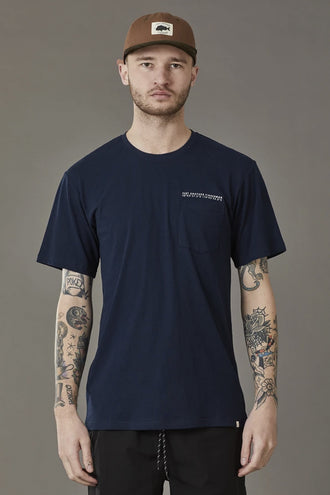 Just Another Fisherman GPS Pocket Tee - Navy