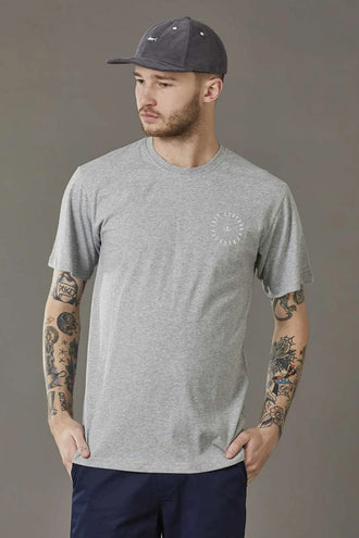 Just Another Fisherman Circle Tee - Grey Marle