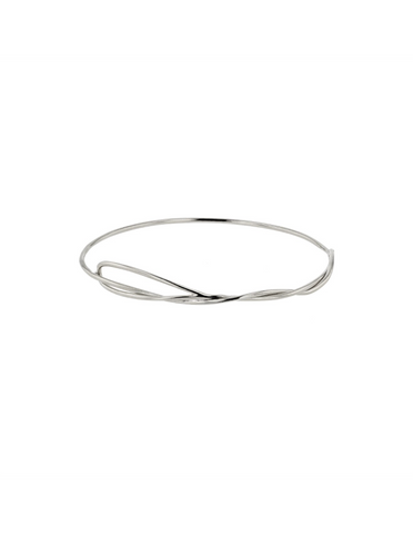 Sarah & Sebastian Bound Bangle - Silver