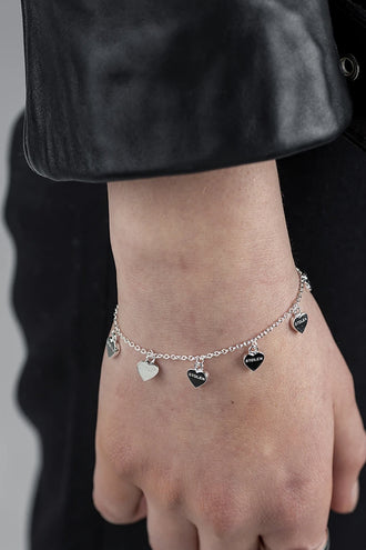 Stolen Girlfriends Club Stolen Heart Bracelet - Silver
