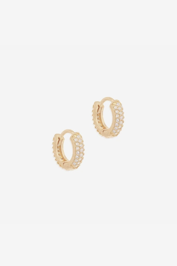 By Charlotte Light Catcher Hoops - Gold