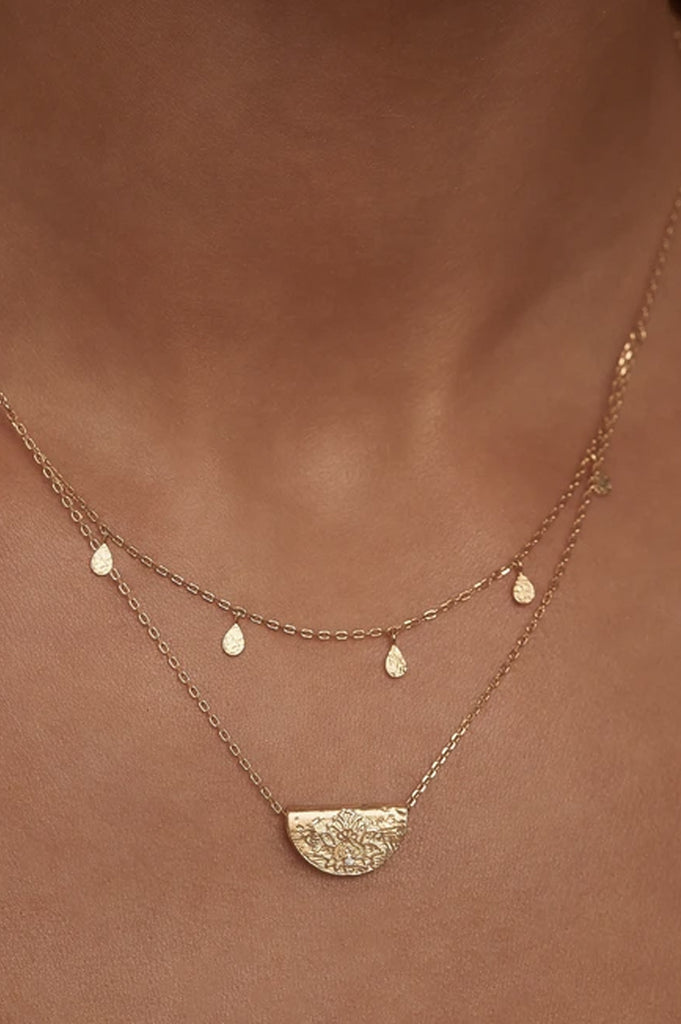 By Charlotte Blessed Lotus Necklace - Silver