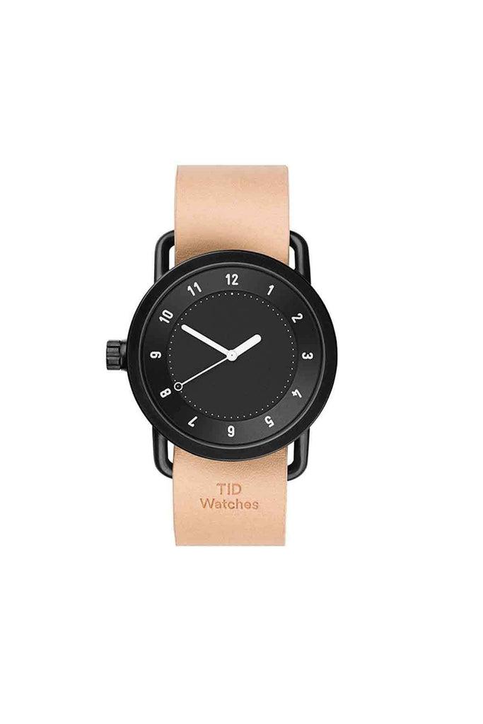 TID watches no.1 black + natural leather