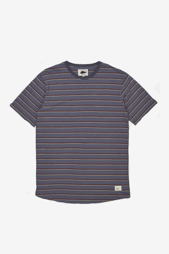Just Another Fisherman Mac Stripe Tee - Blue/Sage
