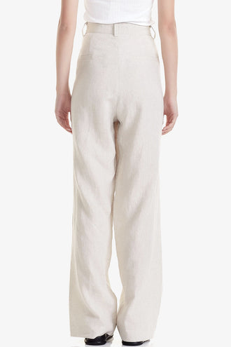 Commoners Womens Pleat Front Pant - Natural
