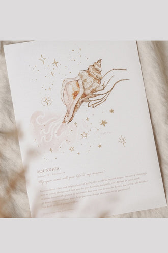 By Charlotte A4 Unframed Print - Aquarius