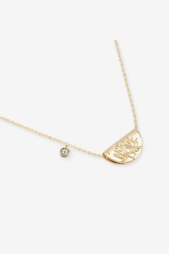By Charlotte Lucky Lotus Necklace - Gold