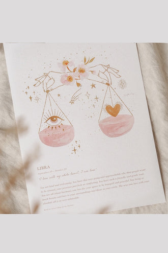 By Charlotte A4 Unframed Print - Libra